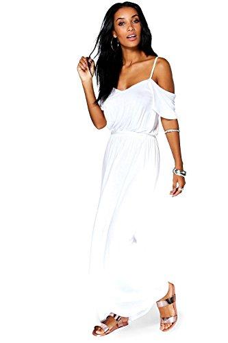 Damen Weiß Isla Maxikleid Mit Ausgeschnittenen Schultern Weiß