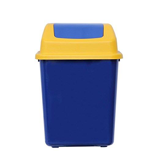 r Abendessen Kaffee im Freien 40L Abfalleimer Schütteln die Abdeckung Kunststoff groß Papierkorb blau (Schritt 2 Blaue Wagen)