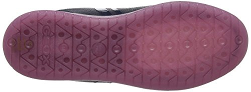 Geox J Kommodor A, Sneakers Basses Mixte Adulte Bleu (Navy/fuchsia)