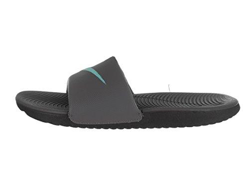 Nike Mens Kawa Slide Synthetic Sandals Dark Grey/Washed Teal/Black