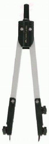 Faber-Castell 176099 – Compás (Negro, Plata)