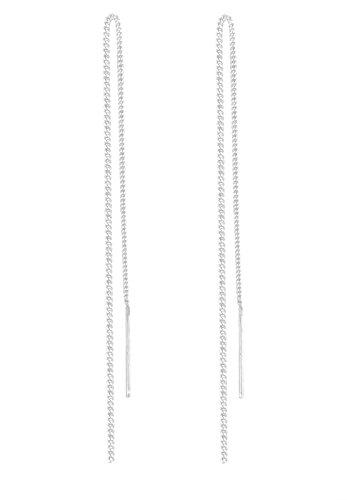 Elli Damen Schmuck Echtschmuck Ohrringe Ohrhänger Durchzieher Sterling Silber 925