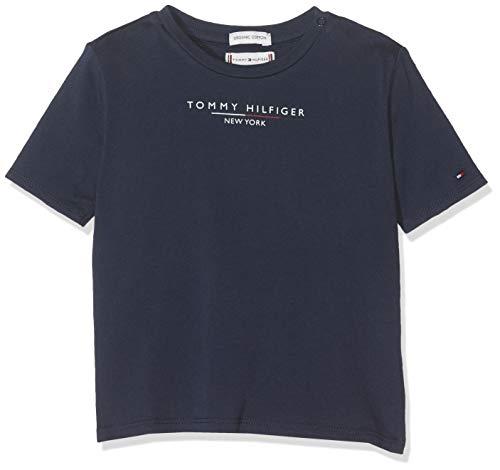 Tommy Hilfiger Baby-Mädchen Essential Hilfiger Tee S/S T-Shirt, Blau (Black Iris 002), (Herstellergröße:86)