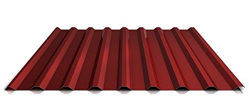 Trapezblech | Profilblech | Dachblech | Profil PS20/1100TRA | Material Stahl | Stärke 0,50 mm | Beschichtung 35 µm | Farbe Rot