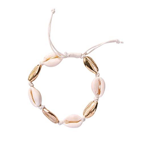 DQANIU ⭐ Europäische und amerikanische Modeschmuck Conch Marine Series Shell Armband Outdoor Strandurlaub Nette süße kleine Muschelschale Armband Bestes Geburtstagsgeschenk