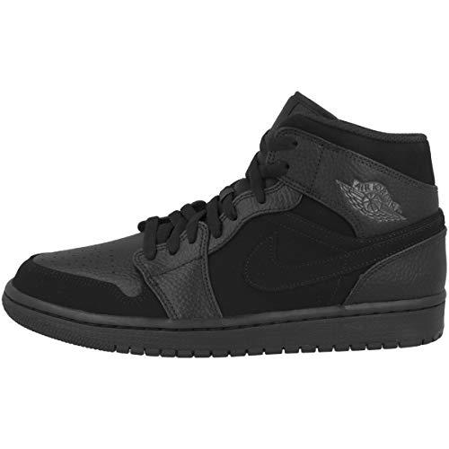 Nike Herren AIR Jordan 1 MID Fitnessschuhe Mehrfarbig Dk Smoke Grey/Black 064, 43 EU