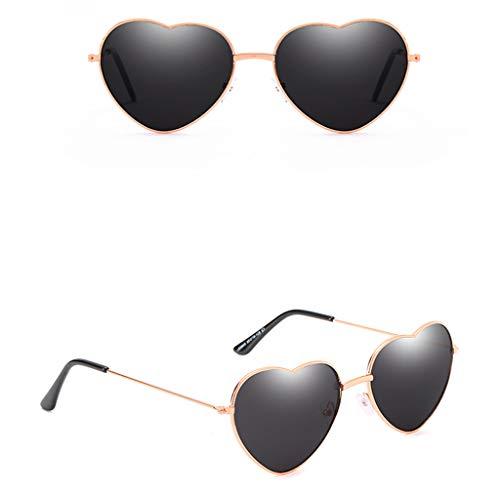 WooCo Herz Sonnenbrillen für Herren und Damen, Liebhaber Unisex Stilvolle Sonnenbrillen, Heißer...