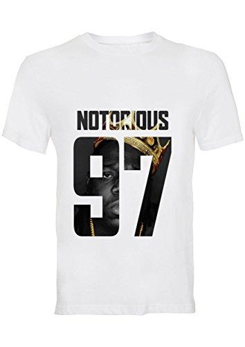 Notorious 97 BIG Biggie L T-shirt des Hommes (La conception sur le devant)