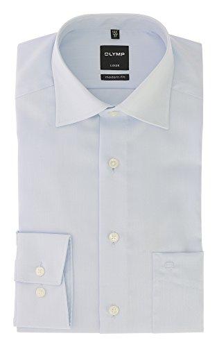 Olymp Herren Hemd Luxor Modern Fit Langarm Bleu