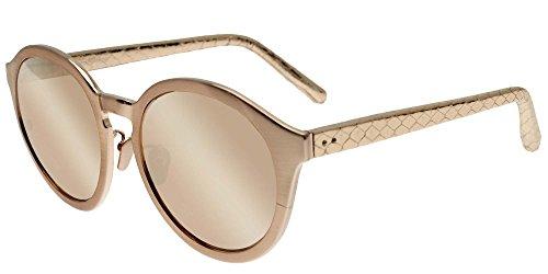 Linda Farrow Sonnenbrillen 338 ROSE GOLD SNAKESKIN ROSE GOLD SNAKESKIN/ROSE GOLD MIRROR Damenbrillen