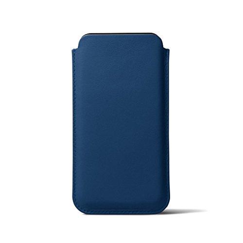 Lucrin - Étui classique iPhone X - Bleu Roi - Cuir Lisse Bleu Roi