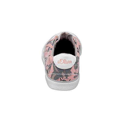 s.Oliver Mädchen 54107 Slip On Sneaker Rosé/Grau