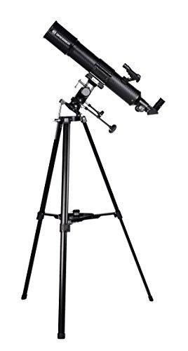 Bresser Teleskop Taurus 90/500 MPM mit Stativ, MPM-Montierung für Erd- und Himmelsbeobachtungen, hoher Lichtsammelleistung und Smartphone Kamera Adapter, schwarz