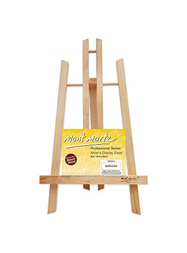Mont marte piccolo cavalletto tavolo in faggio - medium - ideale cavalletto in legno per la presentazione di telaio e cornici fino a 40 cm - perfetto per eventi, esposizioni e convegni