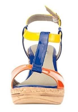 Sandalette aus Lacksynthetik von Best Connections Mehrfarbig