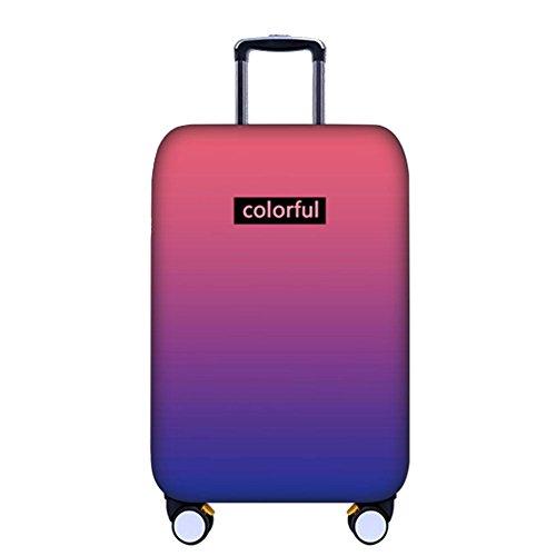 Deylaying Graduale Modificare Colore Valigia Copertina Anti-graffio Bagaglio Baggage Protettore Elastico per Ragazzi Ragazze 18'-32'