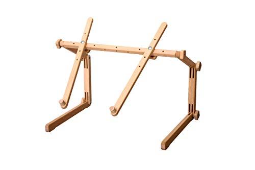MARUSSIA 1365 Donau Stickständer/Tischständer wood braun ohne Stickrahmen