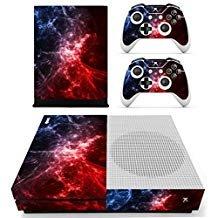 eseeking ganzen Körper Vinyl Haut Aufkleber Aufkleber Cover für Microsoft Xbox One Slim Konsole rot Galaxy Nebular (Galaxy Vinyl-aufkleber)