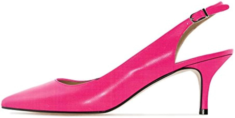 Soireelady - Scarpe Col Tacco - Tacco Gattino - con - cinturino dietro la caviglia - con 6.5CM Parent b9536a