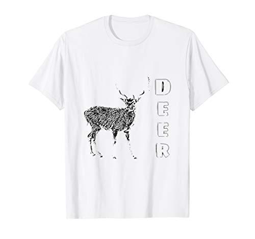Hirsch T-Shirt Jagd Geweih Huftiere Waldtiere Jäger Hirsche Hirsche Hirsche