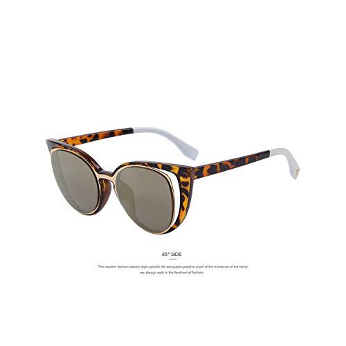 Sportbrillen, Angeln Golfbrille,MERRYS Fashion Cat Eye Sunglasses Women Brand Designer Retro Pierced Female Sun Glasses Oculos De Sol Feminino UV400 C02 Gold