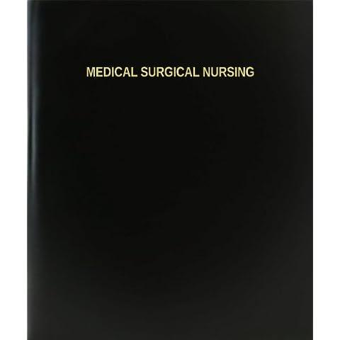 Medicina BookFactory reafirmó cuaderno/cuaderno diario / - 120 página, 21,59 cm x 27,94 cm, negro tapa dura (XLog - 120-7cs-a-l - negro (brasileña reafirmó cuaderno))