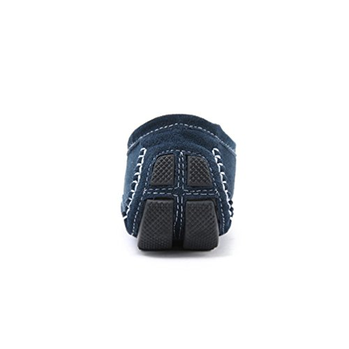 Scarpe Scuro Mocassini Casual Comode Fannullone Guida Uomini Anguang Blu aqdFUva