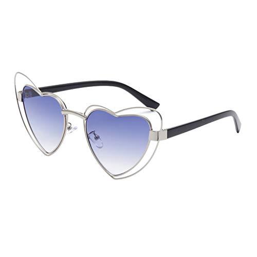 Syeytx Frauen Männer Vintage Eye Sonnenbrille Retro Eyewear Fashion Strahlenschutz 6 Farben