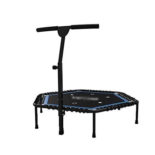 RMXMY Portable & Faltbare Home Mute Sprungmatte Safe für Kinder mit gepolsterter Rahmenabdeckung Indoor-Sprungbett-Trampolin Erwachsene Fitnessgeräte, 48 Zoll