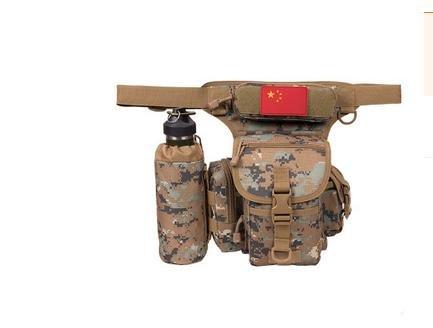 Zll/Multifunktionale Multifunktionell Tactical Leg Herren Leinwand Hüfttasche Licht Outdoor Dedicated Tactical Taschen Jungle-Grün