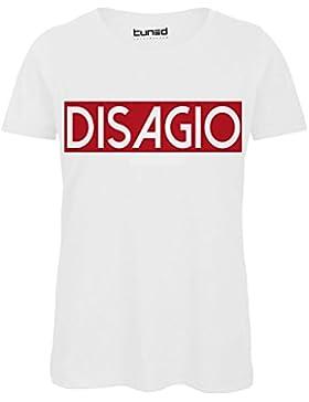 CHEMAGLIETTE! T-Shirt Divertente Donna Maglietta Cotone con Stampe Frasi Ironiche Disagio Tuned