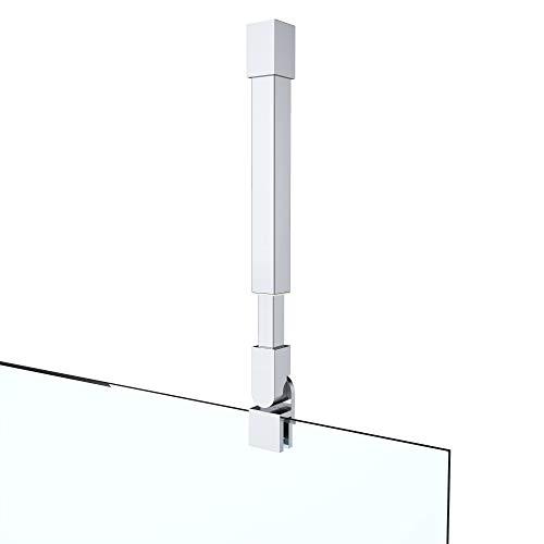 Haltestange Stabilisator für Duschwände Decke Dusche Duschabtrennung Edelstahl rund Verstellung 300-450 mm Glasstärken 6-10 mm GS34