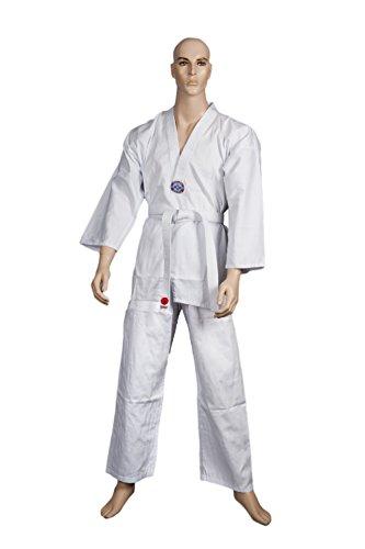 Taekwondo Anzug weiß 7,5 oz 170 cm, Gr.4 (Anzug-seitenschlitze)