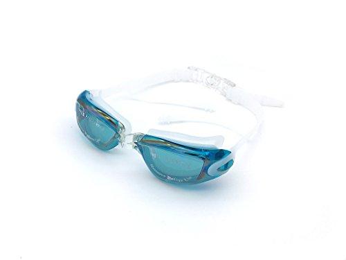 Jee Anti-Fog UV-Schutz Non Undichte mit Crystal Clear Vision M?nner Frauen Schwimmbrille A380(Blue Lake) (Olympic Lack)