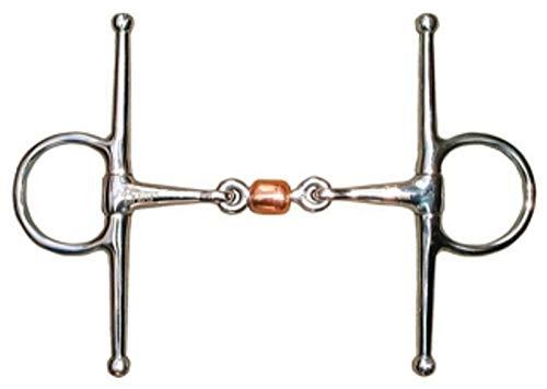 Harry's Horse Knebeltrense Schenkeltrense doppelt gebr. Edelstahl Kupferrolle , Größe:13.5