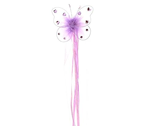 Purple Jeweled Butterfly Fairy Princess Wand by Cutie Collections