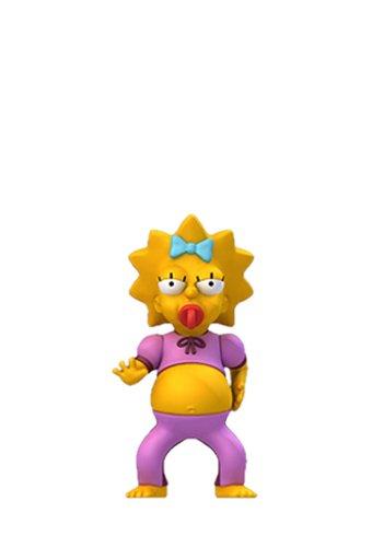 NECA Simpsons 25th Anniversary - Maggie Pink Jumpsuit - figura de acción de la serie 2 1