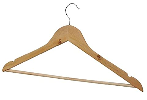 Wooden Coat Hangers High Quality Trouser Bar Suit Clothes Wood Hanger Wardrobe