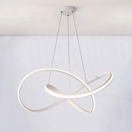 Pendelleuchte Dimmbare Fernbedienung Moderne Kreative Kunst Design 37 Watt LED Wohnzimmer Küche Esstisch Dachboden Schlafzimmer Büro Deckenleuchte (Modernen Weißen Esstisch Satz)