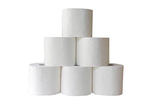 Toilettenpapier 3-lagig weiß 250 Blatt 144 Rollen WC-Papier starke deutsche Qualität supersoft Umweltengel