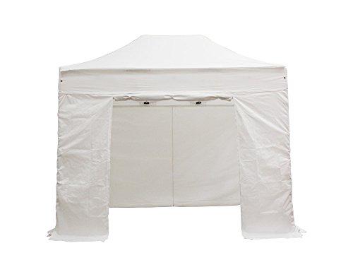 INTEROUGE Tente pliante Jardin / Réception 2x3 M en Aluminium et Polyester 300g/m² Tonnelle pliante Chapiteau Barnum avec les 4 côtés bâches (incluant une porte).