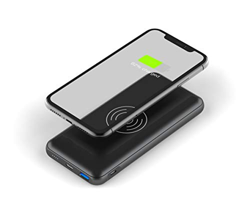 Digitek QI Wireless Charger 13000mAh Power Bank 10W Quick Charger, Type-C and Micro USB, Dual Input USB Wireless Charger Image 1