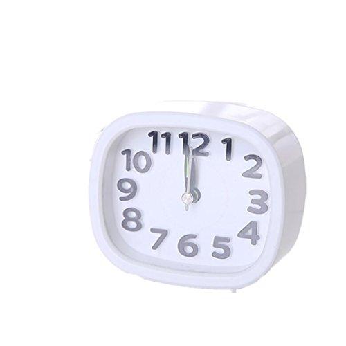 VENMO Rechteckiges kleines Bett Kompakte Reiseuhr Quarz Beep Wecker Cute Portable Wecker Digital Bilderrahmen Groß Tischuhr/Wanduhr 8 Zoll Standuhr mit Zeit/Kalender/Foto/Video Anzeige Helligkeit/Musik/Erinnerung Einstellbar Uhr - Kleine Digital Wanduhr