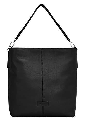 Liebeskind Berlin Damen Essential Hobo Medium Schultertasche, Schwarz (Black), 13x34x30 cm (Medium Hobo Handtaschen Black)
