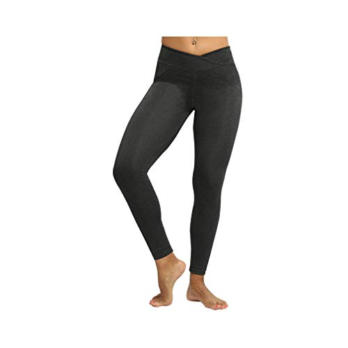 aoliaoyudonggha Women High Waist Workout Sexy Push Up Leggings Solid Heart Femme V Waist Trousers -