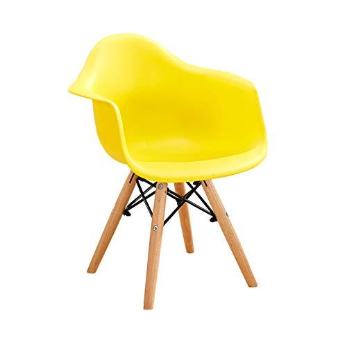 Sedia da pranzo per bambini, schienale poltrona colorata creativa sedia da bambino in legno casa asilo sgabello da colazione per sedie, per scuola materna, sala da pranzo, cucina (colore : d)