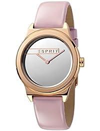 Esprit Femmes Analogique Quartz Montre avec Bracelet en Cuir ES1L019L0045