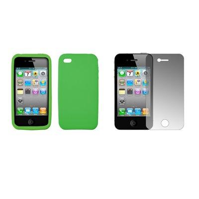 at-t-apple-iphone-4-verde-neon-premium-morbida-in-silicone-gel-proteggi-schermo-trasparente-per-at-t