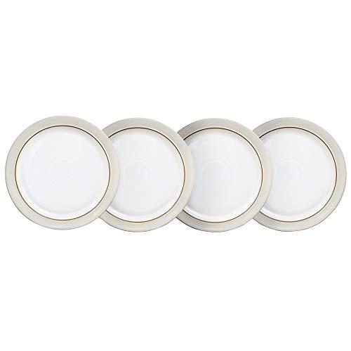 Denby CNV-003/4 NATURAL CANVAS Dinner Plates - Set of 4 Teller-Set, Steingut, white; neutral Denby White Dinner Plate