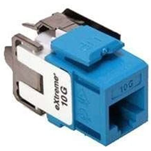Leviton eXtreme Cat6a RJ45 10Gig QuickPort Jack, Blue 6110G-RL6 by Leviton
